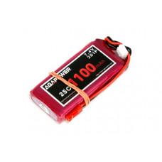 Аккумулятор AGA POWER Li-Po 1100mAh 7.4V 2S 25C Softcase 12x35x68мм JST